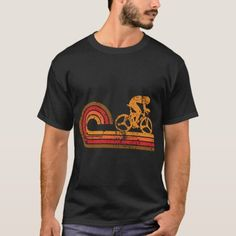 Retro Style Cyclist Silhouette Cycling T-Shirt   road cycling, cycling short, cycling for beginners #cyclinggraphics #cyclingmonuments #themonuments, 4th of july party