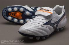 68511581f Mizuno Football Boots - Mizuno Morelia MD Boots - Firm Ground - Soccer  Cleats - Pearl-Dress Blue-Autumn Glort