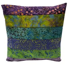 10 inch Pillow Sham Cover in Purple Green and by Sieberdesigns