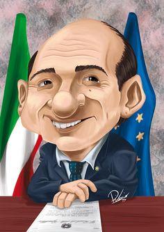 Giancarlo Magalli - caricature by Ribosio #magalliforpresident