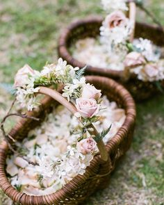 """kristen caissie on Instagram: """"baskets of hydrangea petals for the sweet flower girls to toss in Big Sur. Scott + Anna's late summer wedding is in the current issue of @c.magazine"""""""