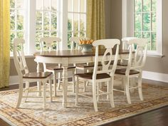 A-America BRI British Isles Oval Leg Table Dining Set - This is the table I want, my fav! Casual Dining Rooms, Dining Room Table Decor, Dining Table Legs, Extendable Dining Table, Dining Room Sets, Decoration Table, Dining Room Furniture, Dining Chairs, Furniture Showroom