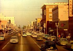 Vintage Post Card: Downtown Anaheim, California by cwalsh415, via Flickr