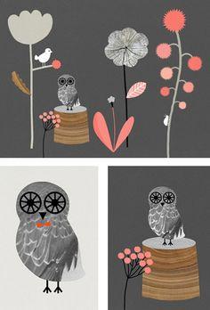 Owl art by Audrey Jeanne