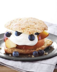 Cornmeal Shortcakes with Peaches and Blueberries