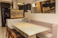 Cozinha aberta: Salas de jantar modernas por Geraldo Brognoli Ludwich Arquitetura