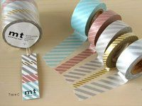 mt Washi Masking Tape Stripes C Set 5 by craftyjapan on Etsy. $19.00 USD, via Etsy.
