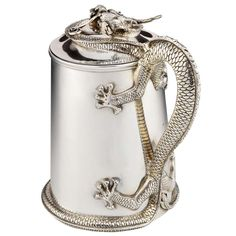 Sterling silver 'Dragon' Flagon   From a unique collection of antique and modern sterling silver at http://www.1stdibs.com/furniture/dining-entertaining/sterling-silver/