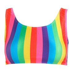 Rainbow Stripes Crop Bikini Top Womens Swimsuit Sports Tumblr Hipster... (215 MAD) ❤ liked on Polyvore featuring swimwear, bikinis, bikini tops, silver, women's clothing, crop top swimsuit, bathing suits bikini, swim suits, swim suit tops and swim tops