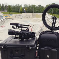 MOBILE REBELS - Afternoon session with #Pelican gear on location. Great pic from @Justensoule! #BMX by pelicanproducts