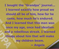 Father's Day is a great occasion for showing your love to GRANDPA by seeking his handwritten memories.