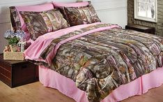 Pink camouflage bedding country woods and pink around the rims theme bedroom for girls room realtree Pink Camo Bedroom, Camo Rooms, Dream Bedroom, White Bedroom, Girls Bedroom, Master Bedroom, Camo Bedding, Pink Bedding Set, Bedding Sets