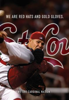 we are red hats and gold gloves. we are the St. Louis Cardinals.
