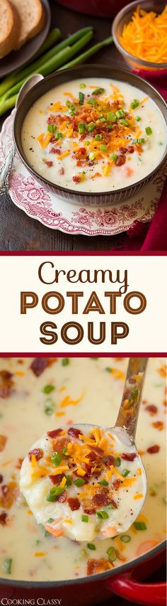 Creamy Potato Soup - this is my go to potato soup recipe! I've been using this recipe for years and everyone in my family loves it!