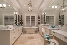Cayo Costa House Plan http://www.weberdesigngroup.com/plans/cayo-costa-house-plan/490 #customdesign #architecture #bathroom #masterbath #spa #bath