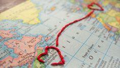 Sonntagshäppchen: transatlantische Einladungskarte mit Herz | Hochzeitsblog Fräulein K. Sagt Ja