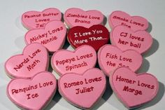 I love you more than. cookies Source by Valentines Day Cookies, Valentines Day Party, Valentine Day Crafts, My Funny Valentine, Mickey Love, Sweetest Day, Valentine's Day, Love You More Than, Holidays And Events