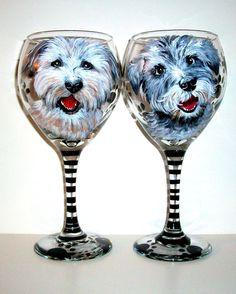 Custom Handpainted Portrait of Your Dog On by SharonsCustomArtwork, $65.00