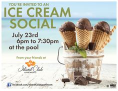 IC had an ice cream social and this is the adorable flyer sent out for it!