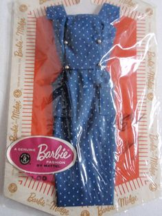 "Vintage Barbie Doll Pak Dress ""Sheath with Gold Buttons"" NRFP 1962 63 | eBay"