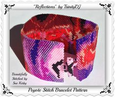 BP-NAT-003  Reflections  Even Count Peyote Stitch by TrinityDJ