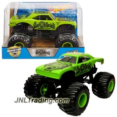 Hot Wheels Year 2017 Monster Jam 1:24 Scale Die Cast Official Monster Truck Series - GAS MONKEY GARAGE DWN87 with Monster Tires, Working Suspension and 4 Wheel Steering