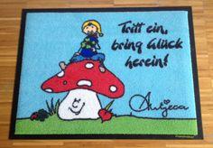 Fußmatte: Tritt ein, bring Glück herein!