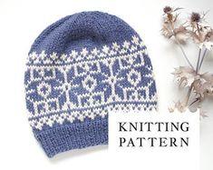 Fair Isle Hat Knitting Kit, Alpaca Nordic Hat DIY, Norwegian Snowflakes Hat Knitting Pattern with Needles Knitting Kits, Fair Isle Knitting, Knitting Patterns, Crochet Patterns, Hat Patterns, Drops Alpaca, Knitted Hats Kids, Aran Weight Yarn, Cable Knit Hat