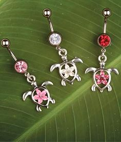 Cute flower and turtle belly button ring Belly Button Piercing Jewelry, Bellybutton Piercings, Cute Piercings, Piercing Ring, Body Piercings, Piercing Ideas, Cute Belly Rings, Belly Button Rings, Ring Tattoos