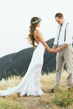 50 Chic Boho-Chic Wedding Dresses Ideas - EcstasyCoffee