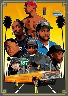 I can't help west coast rap will always . - I can't help west coast rap will always . Dance Hip Hop, Hip Hop Rap, Dope Cartoons, Dope Cartoon Art, Hip Hop Artists, Music Artists, Hip Hop Graffiti, Old School Art, Arte Do Hip Hop