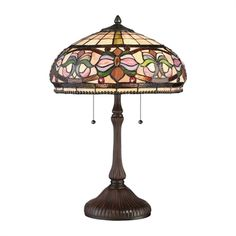Quoizel TF2805TRS Meadow 2 Light Tiffany Style Table Lamp