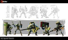 5Strike characters by ~Ratrien on deviantART