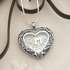 Memorial Locket, Angel Wing Locket, Letter Birthstone, Personalized Angel Wing Necklace, With Me Always Necklace, Heart Locket, Angel Wing