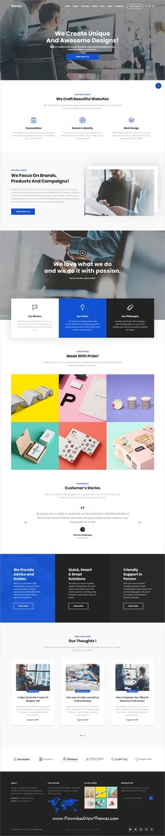 Westy is clean, stylish and modern design responsive multipurpose WordPress #templates for #web #studio website with 60+ niche #homepage layouts to live preview & download click on image or Visit