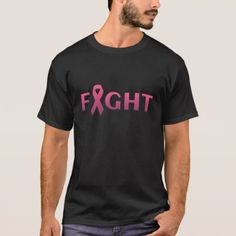 Fight Breast Cancer - white T-Shirt - logo gifts art unique customize personalize