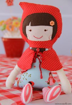 Little red riding hood doll. It would be cute to do a whole fairy tale set of dolls