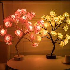 Flower Lamp, Flower Lights, Flower Tree, Diy Flower, Maria Rose, Wedding Bedroom, Bedroom Romantic, Romantic Mood, Romantic Quotes