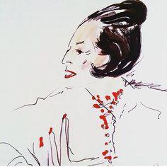Diana Vreeland #dianavreeland by Joe Eula #joeeula