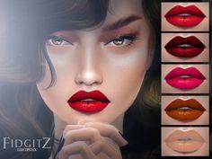 Lana CC Finds — fidgitz: FIDGITZ: Lush Lipstick SIMS 4 Female...