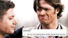 Supernatural. Okay this is so sad and funny at the same time in a way I hadn't thought possible.