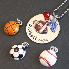 Team Spirit Necklace  stainless steel disc by SusansJewelryDesigns, $23.00