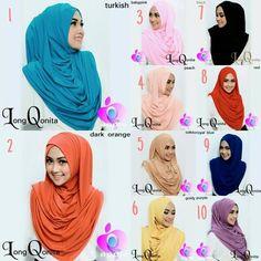 Hijab Instan Hoodie Long Qonita Model 2017 Terbaru lebih panjang dari versi biasa, bahan lebih tebal & halus, serta ada aksesoris lipatan 3 seperti arabian