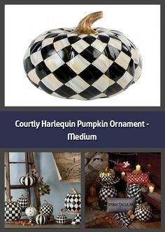 Decorative pumpkin Material: polyresin Dimensions: Turns the Courtly Check pattern into harlequin diamonds Topped with a golden stem In classic MacKe Pumpkin Ornament, Diamond Tops, Pumpkin Decorating, Home Accessories, Diamonds, Ornaments, Patterns, Medium, Stylish