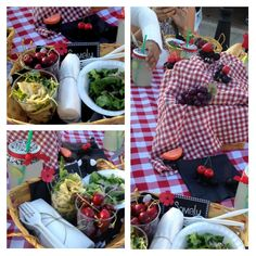 Great picnic theme. Instead of plates use baskets. Use mason jars to put the drink. Wrap the sandwiches in parchment paper. And they even made ants with fondant like food on their back walking through our picnic! Props to Mrs. Ros and Mrs. Lopez!!