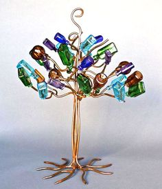 Stephanie Dwyer bottle trees from metal.