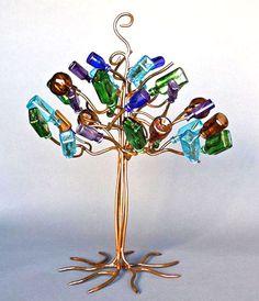 Stephanie Dwyer bottle trees from metal.