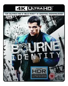 The Bourne Identity (4K UHD Blu-ray + Blu-ray + Digital Download) [2002]