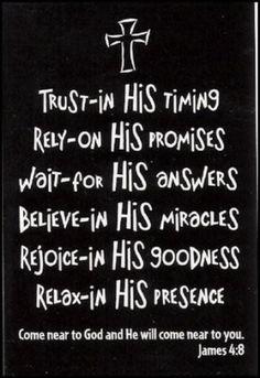 Trust God!!
