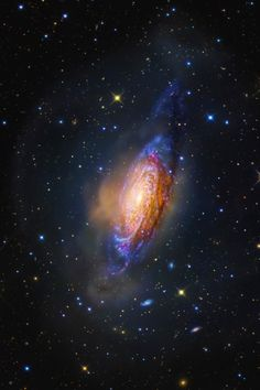 Galaxy NGC 3521 in the constellation Leo